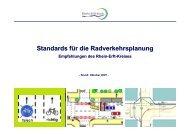 Standards für die Radverkehrsplanung - Rhein-Erft-Kreis