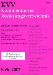 SoSe 2007 - Fachschaft Jura - Ludwig-Maximilians-Universität ...