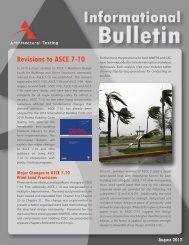 Informational Bulletin_page 1 - Architectural Testing