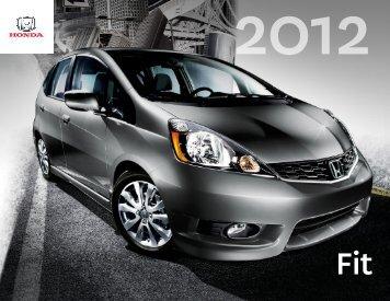 Télécharger la brochure : Honda Fit 2012 - Auto Frank et Michel