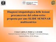 Diagnosi istopatologica delle lesioni precancerose del ... - GISCoR