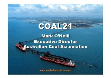 Outcomes from the Coal 21 Programme - apec egcfe