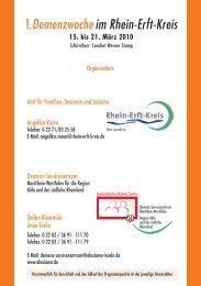1.Demenzwoche im Rhein-Erft-Kreis