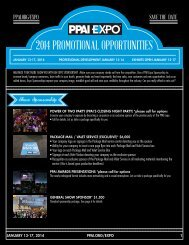 2014 PROMOTIONAL OPPORTUNITIES - The PPAI Expo