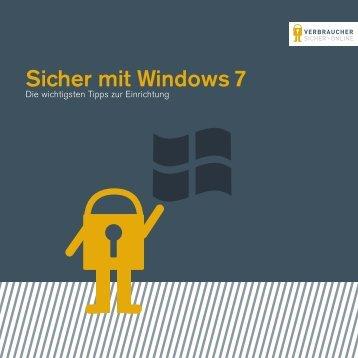 Sicher mit Windows 7 - Verbraucher sicher online