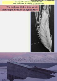The Svalbard Global Seed Vault: Securing the Future of Agriculture