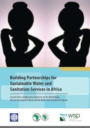 Building Partnerships for Sustainable Water and Sanitation - African ...
