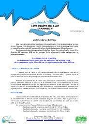 Les Cimes du Lac d'Annecy - Le Cyclo'Tour