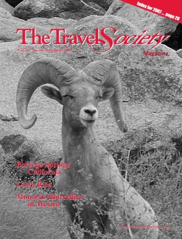 Vol. 25 No. 10 December 2007 - The Travel Society