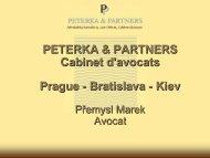 1. LOI SUR L'AIDE AUX INVESTISSEMENTS - Peterka & Partners