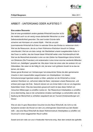 ARBEIT --- UNTERGANG ODER AUFSTIEG - Otelo