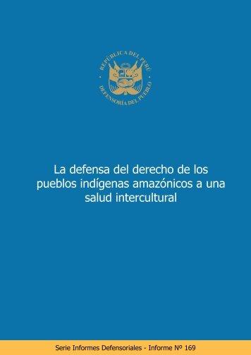 INFORME DEFENSORIAL SOBRE LA SALUD DE LOS PUEBLOS INDIGENAS