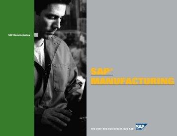 SAP® MANUFACTURING - IT World Canada