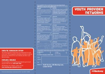 YOUTH PROVIDER NETWORKS - Young Hackney