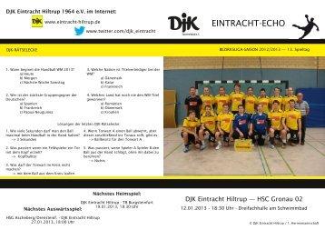 Ausgabe 6: 13. Spieltag, Saison 2012/2013 - DJK Eintracht Hiltrup