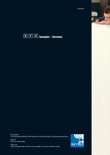 Sampler - Screens D F E Stand: 22-10-2012 - Gerriets