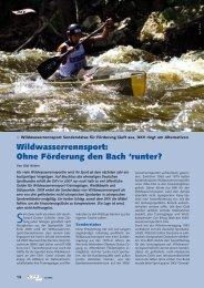 Bericht Kanu Sport Dezember 2006 - Wildwassersport.de