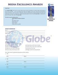 Media Excellence Awards - Globe