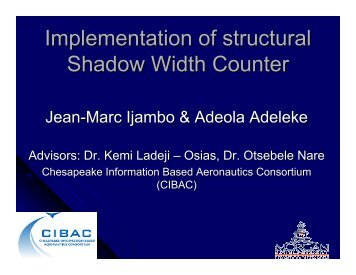 Implementation of structural Shadow Width Counter - Morgan State ...