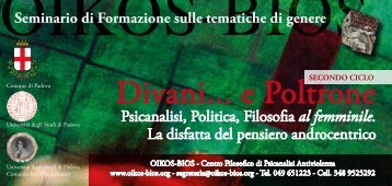 Divani... e Poltrone - Pari Opportunità in Provincia di Venezia