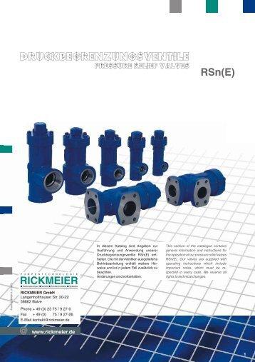 PDF-Datenblatt (520 kB)  - RICKMEIER Pumpentechnologie