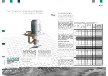 R35 R35 - RICKMEIER Pumpentechnologie