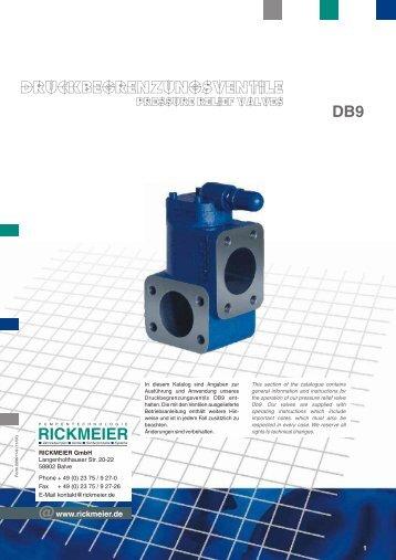 DB9 ventile.cdr - RICKMEIER Pumpentechnologie