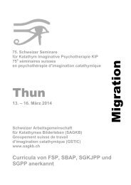 Katathym Imaginative Psychotherapie (KIP) - SAGKB Schweizer ...