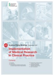 Implementation of Medical Research in Clinical Practice - European ...