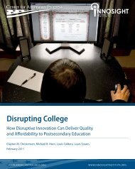 Disrupting College - Innosight Institute