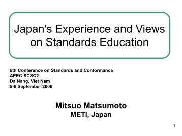 Survey on Standards Education - APEC Standards Education Initiative