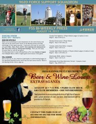 Beer & Wine Lovers - the 902d Force Support Squadron