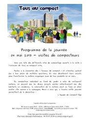 Programme de la journée 04 mai 2013 - visites de composteurs
