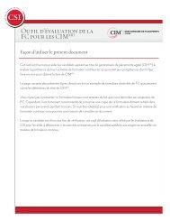 Outil d'évaluation de la FC pour les CIMMD