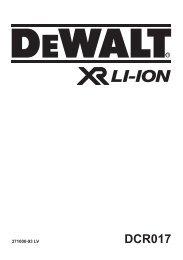 DCR017 - Service - DeWalt