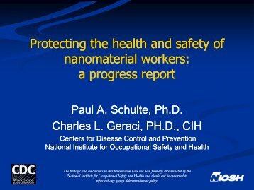 Protecting the health and safety of nanomaterial w...