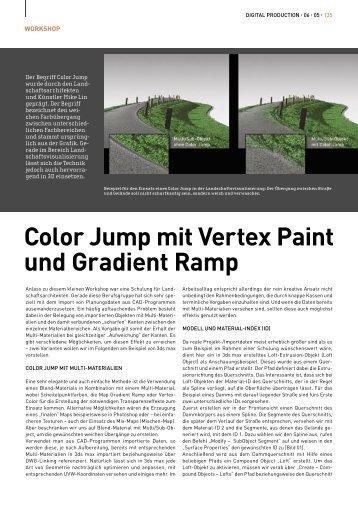 Color Jump mit Vertex Paint und Gradient Ramp, Digital ... - Mach:Idee