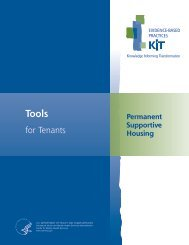 Permanent Supportive Housing: Tools for Tenants - SAMHSA Store ...