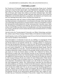 Chronik der Gemeinde Fontanella für das Jahr 2007 - Vorarlberger ...
