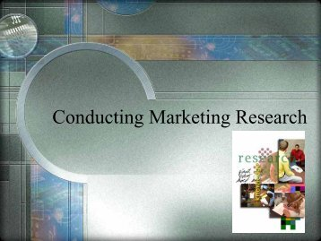 Conducting Marketing Research - iMAG