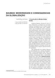 bauman: modernidade e consequencias da globalização - Reid.org.br