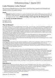 Ordinationszeitung 1. Quartal 2012 Liebe Patientin ... - Dr. Hubert Fröis