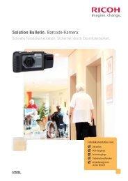 Solution Bulletin. Barcode-Kamera: - Ricoh