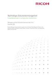 Nachhaltiges Dokumentenmanagement (281 KB) - Ricoh