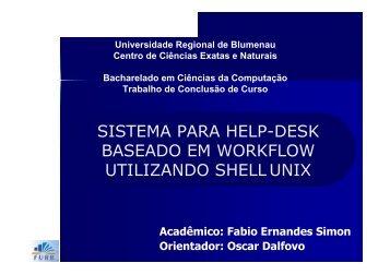 sistema para help-desk baseado em workflow utilizando shell unix