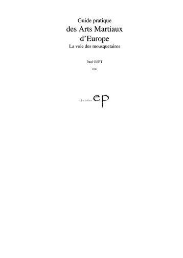des Arts Martiaux d'Europe - Emotion Primitive