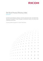 Der Ricoh Process Efficiency Index