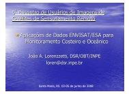 Aplicações de Dados ENVISAT/ESA para ... - INPE/OBT/DGI