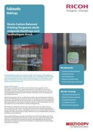 Carbon Balanced Printing-Programm - Ricoh