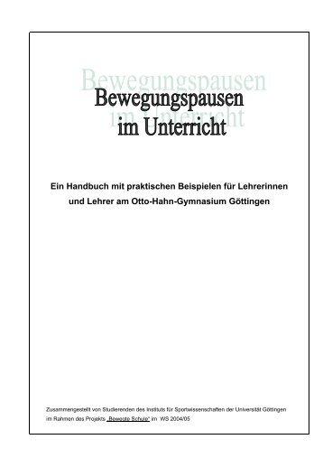 Handbuch mit praktischen Beispielen für LehrerInnen - Otto-Hahn ...